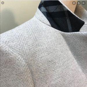 NEW PRICE RARE cashmere blend Burberry pea coat